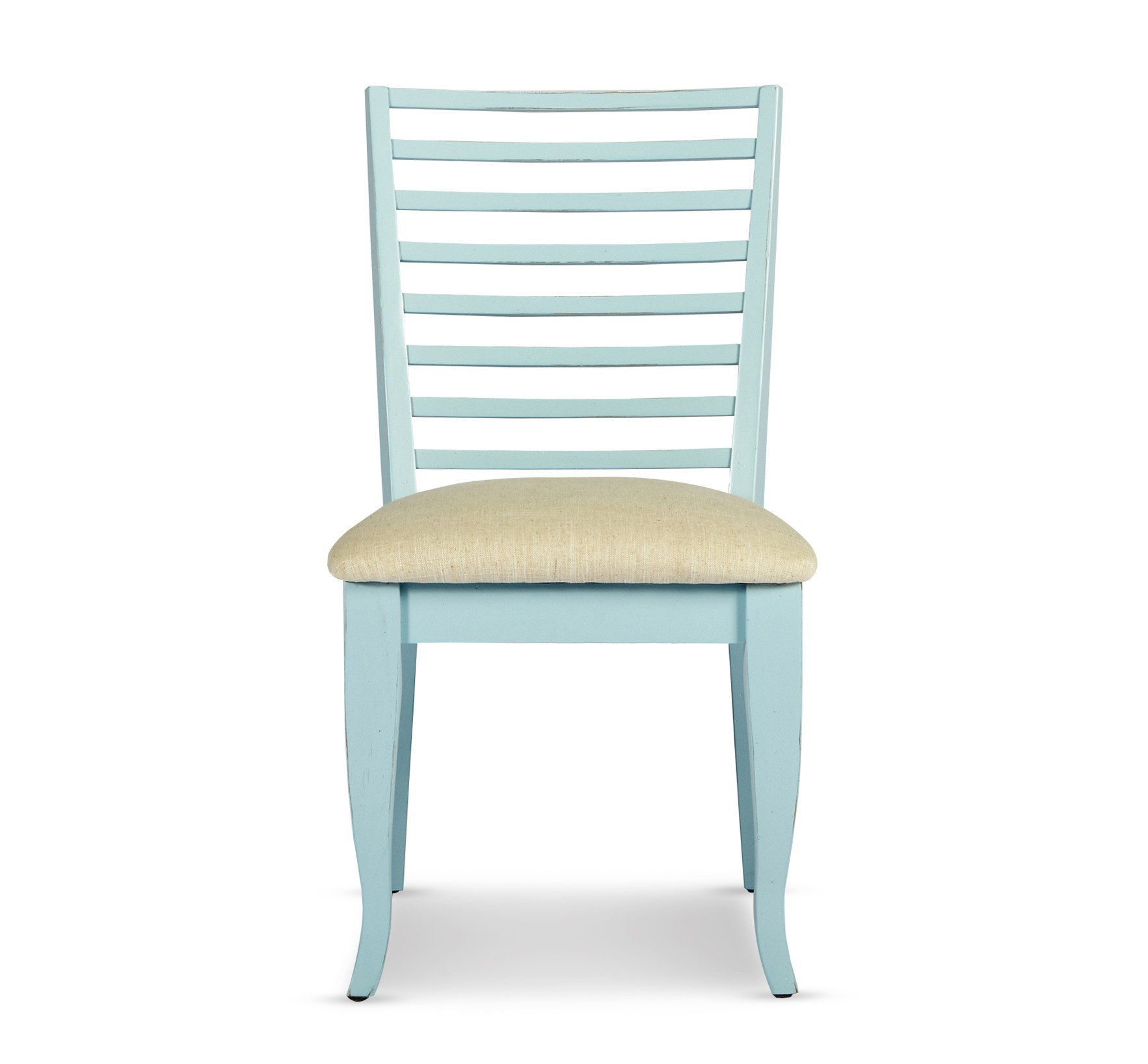 Antique baby blue side chair dining chairs dining room robb stucky for Robb and stucky bedroom furniture