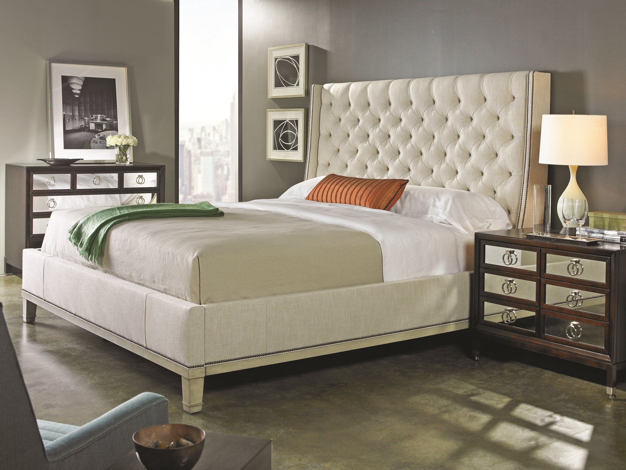 Cleo king bed beds bedroom robb stucky for Robb and stucky bedroom furniture