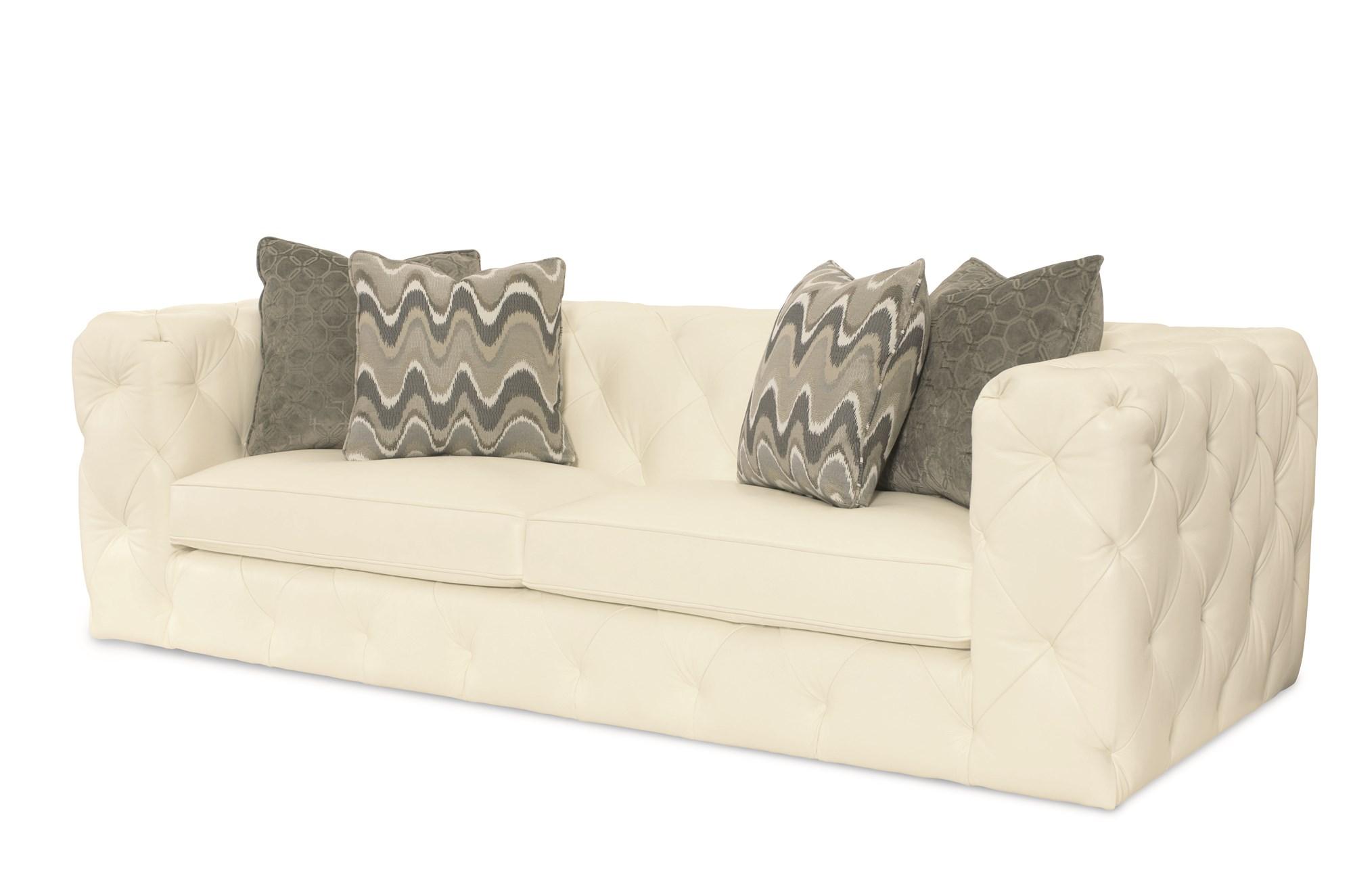 Tufted Chelsea Leather Sofa Sofas Loveseats Living