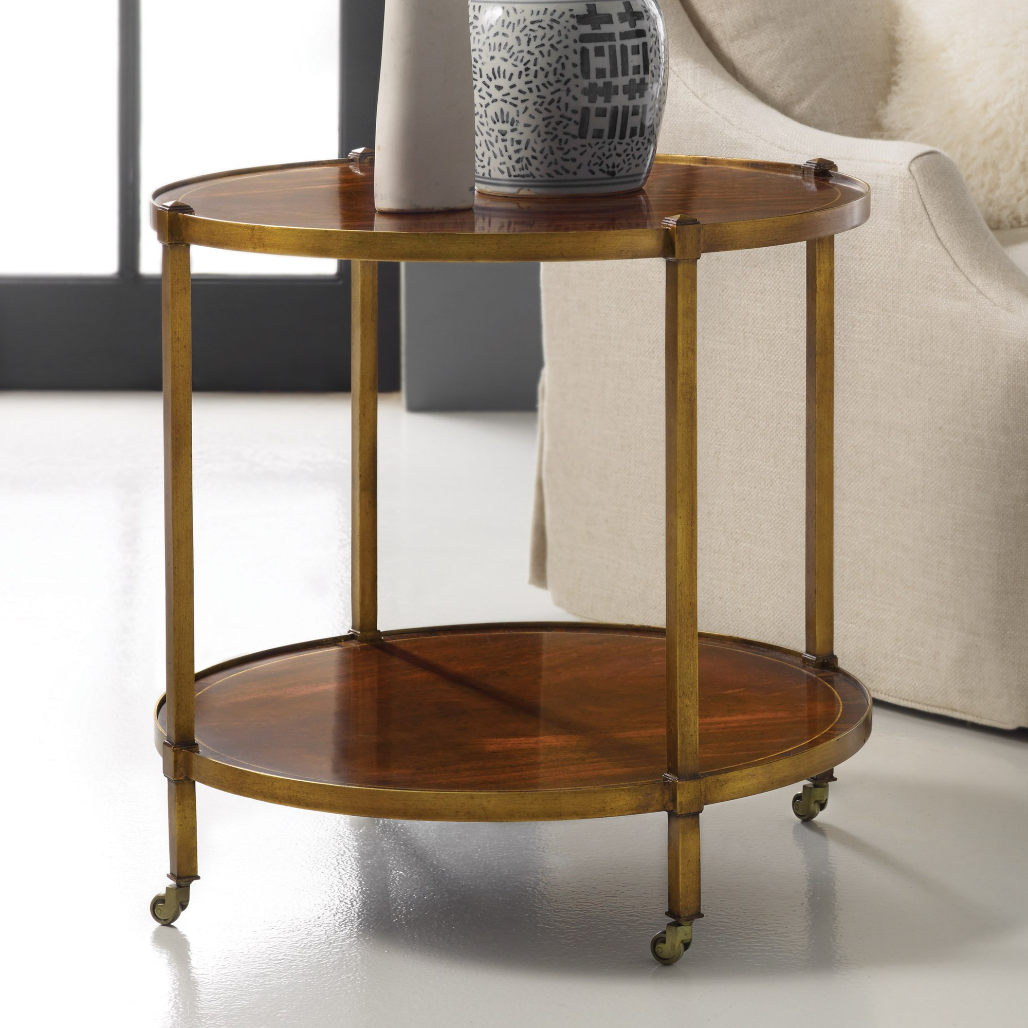 Round Inlaid Table End Occasional Tables Modern History