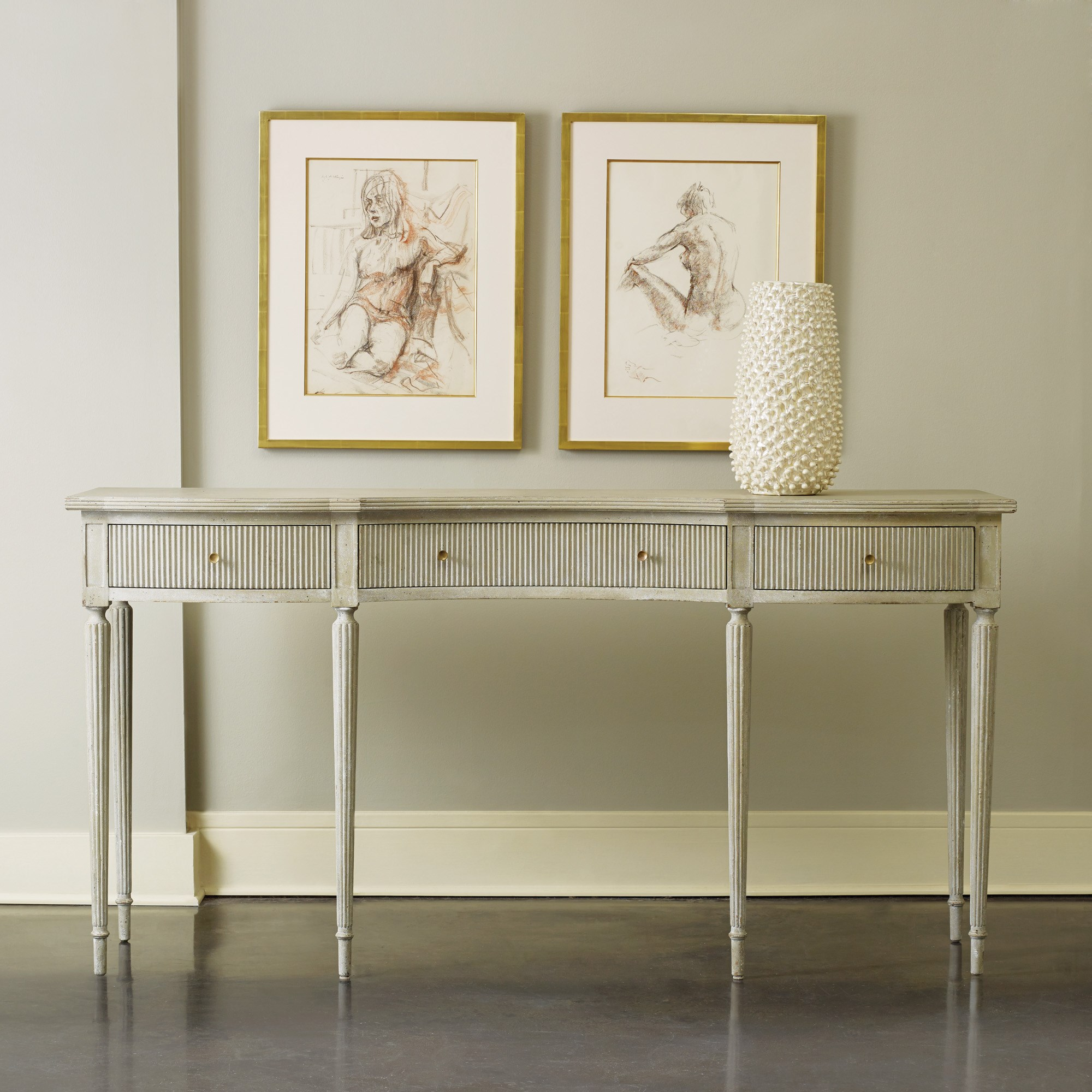 Ribbed Drawer Console Consoles & Sofa Tables