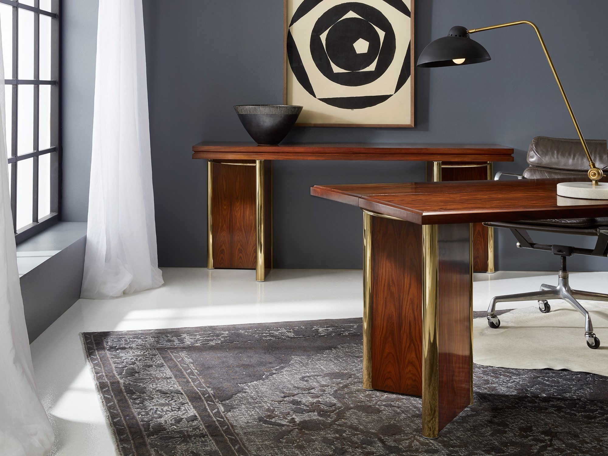 Rosewood Flip Top Console Consoles Sofa Tables Modern History