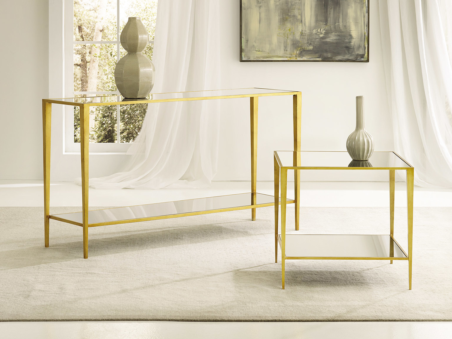 Gilt Square End Table MH926F01