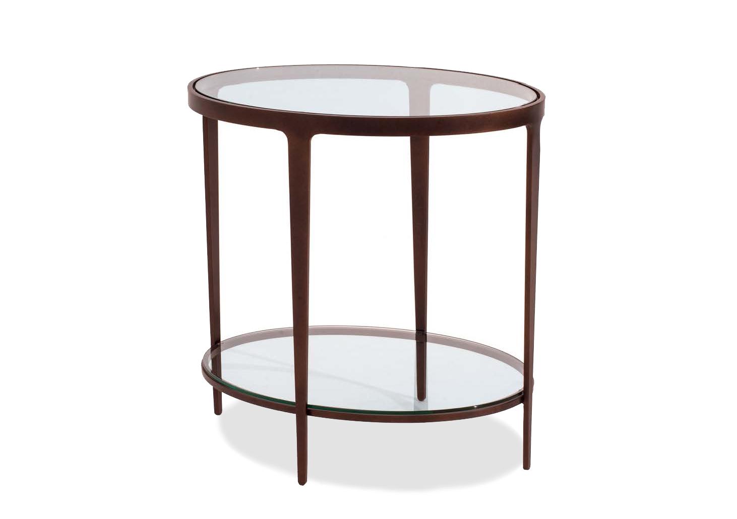 Elegant Ellipse Oval End Table