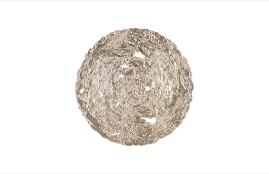 Molten Disc Wall Art Silver Leaf, Medium