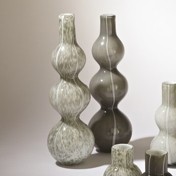 Three Bubble Light Grey Vase