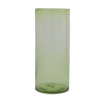 Tall Green Tea Cylinder Vase