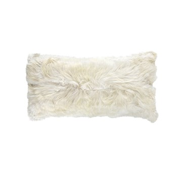 Ivory Alpaca Rectangle Pillow