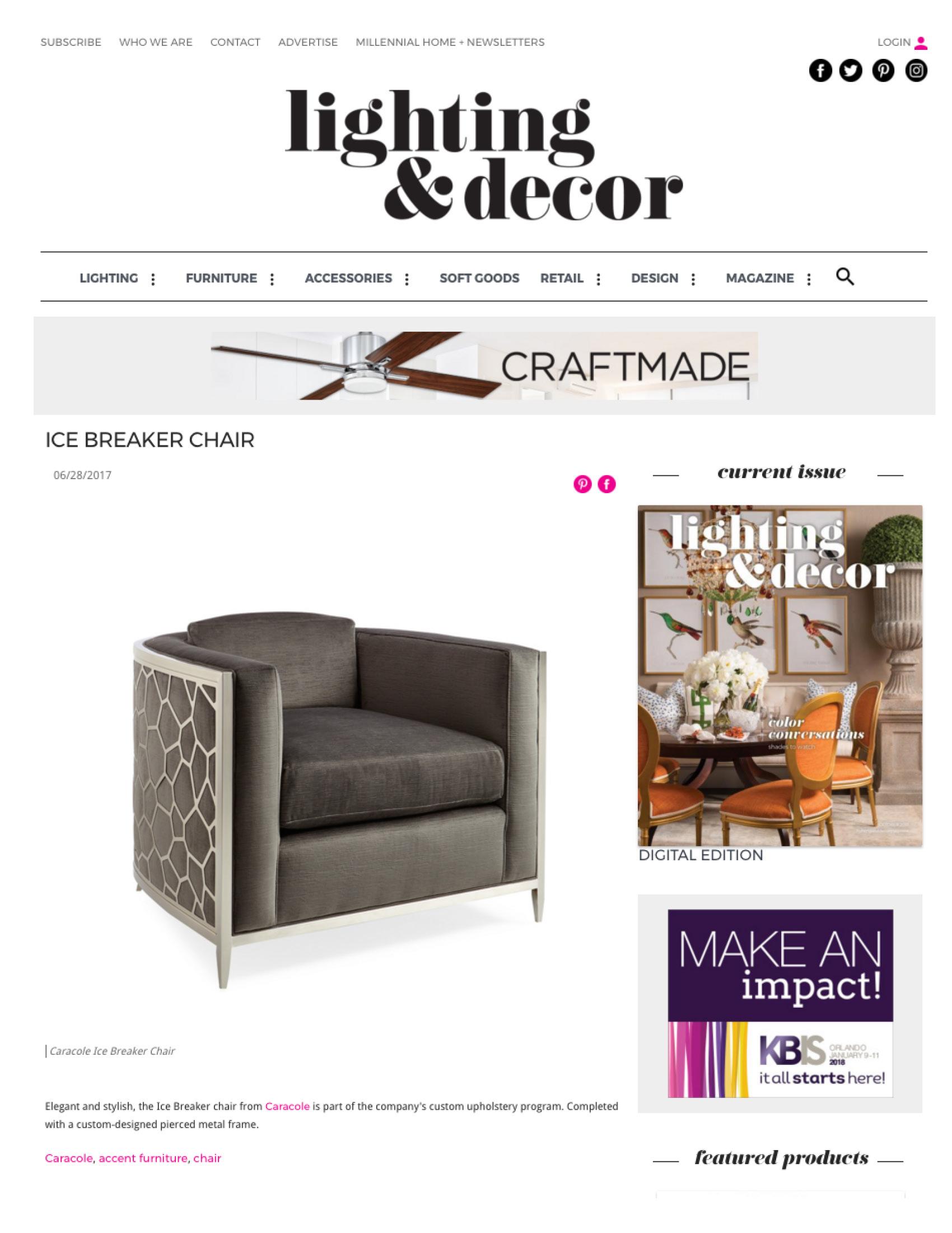 Lighting & Decor Online Product Gallery, June 2017
