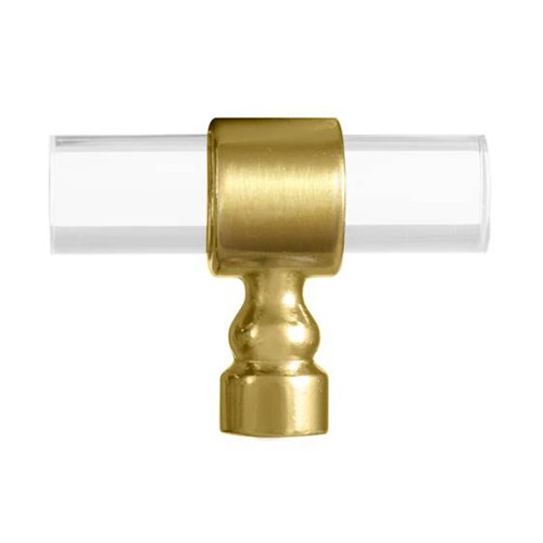 Brass & Lucite Pull