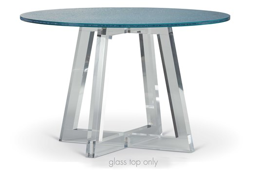 Graphite Blue Glass Table Top