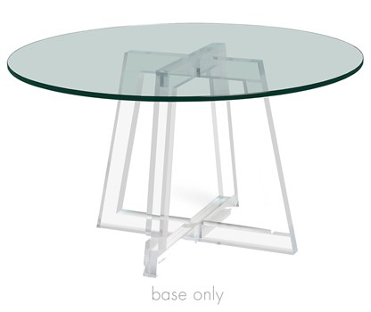 Stella Acrylic Dining Table Base