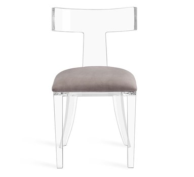 Tristan Acrylic Klismos Side Chair