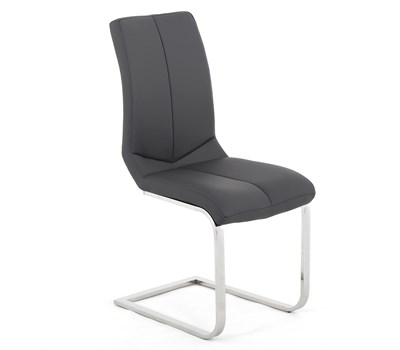Domino Armless Leather Dining Chair
