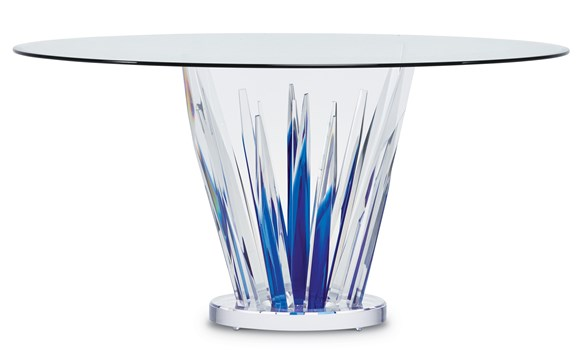 Transpicuous Round Dining Table