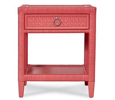 Coral Bay Nightstand in Coral