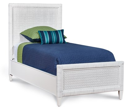 Coral Bay Twin Extra Long Bed in Frost