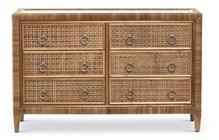 Coral Bay 6-Drawer Dresser in Natural