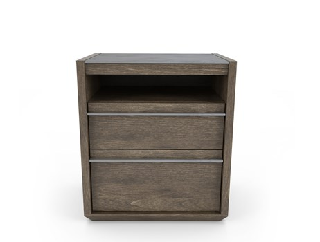 Clark 2-Drawer Nightstand with Cubby