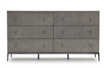 Solange 6-Drawer Dresser - Gray