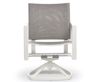 Swivel Rocker Dining Arm Chair - White