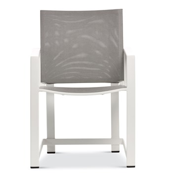 Urban Tempo Dining Arm Chair - White