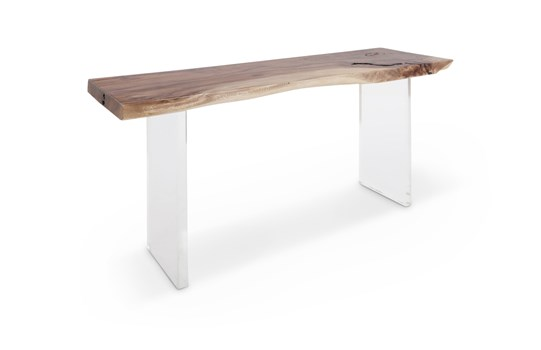 Floating Wood Console