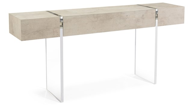 Tiza Gesso and Acrylic Console Table