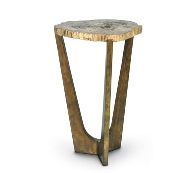 Petrified Wood Tripod Table