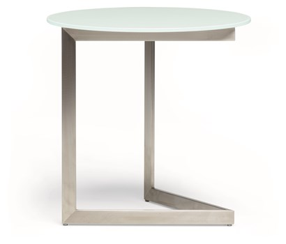 Cut Side White Table