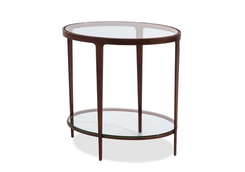 Ellipse Oval End Table