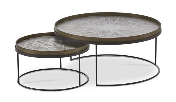 Set of Two Round Tray Tables