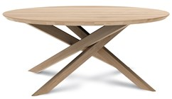 Mikado Round Oak Cocktail Table
