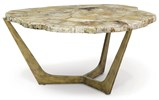 Petrified Wood Tripod Cocktail Table