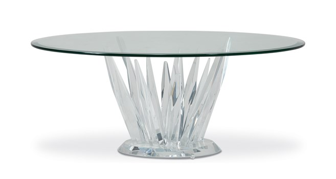 Crystals Round Cocktail Table