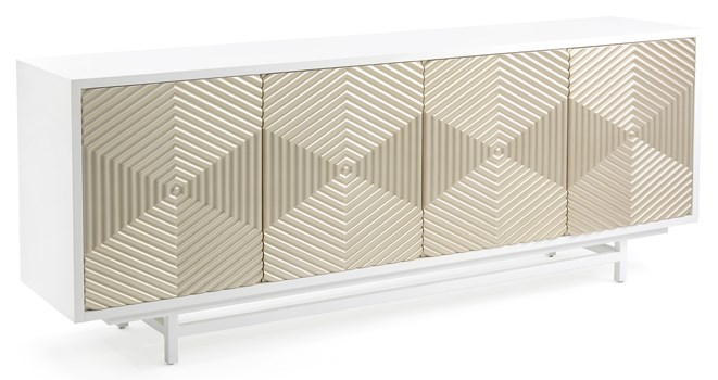 Hexagonal Patterned Cabinet