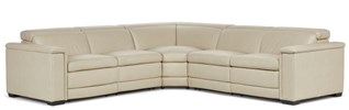 Emerson Power Motion Leather Sectional