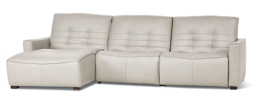 Reaux 3-Piece Leather Sectional