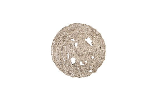 Molten Disc Wall Art Silver Leaf, Small