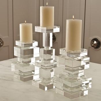 Short Brilliant Crystal Pillar