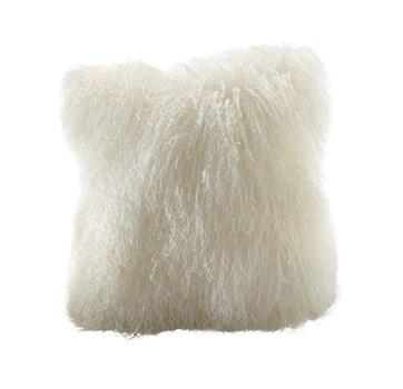Ivory Tibetan Wool Square Pillow