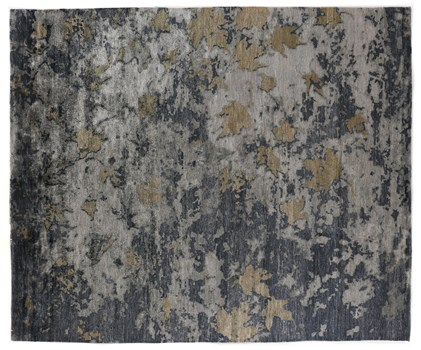 8' X 10' Charcoal/Gray Hand Knotted Rug