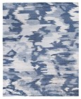8' X 10' Blue Hand Knotted Rug