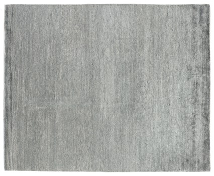 8' X 10' Aqua/Dark Aqua Hand Knotted Rug