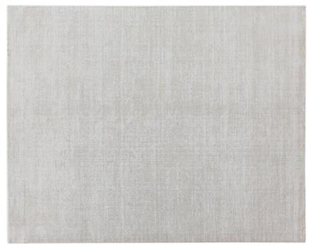 8' X 10' White/Beige Handmade Rug