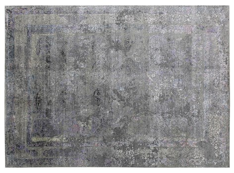 8' X 10' Gray/Purple Hand Knotted Rug