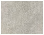 8' X 10' Ivory Hand Knotted Rug