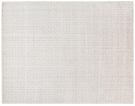 8' X 10' Ivory Hand Made Rug