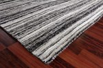 8' X 10' Charcoal/Silver Hand Loomed Rug
