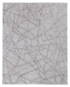 8' X 10' Gray/Silver Handmade Rug